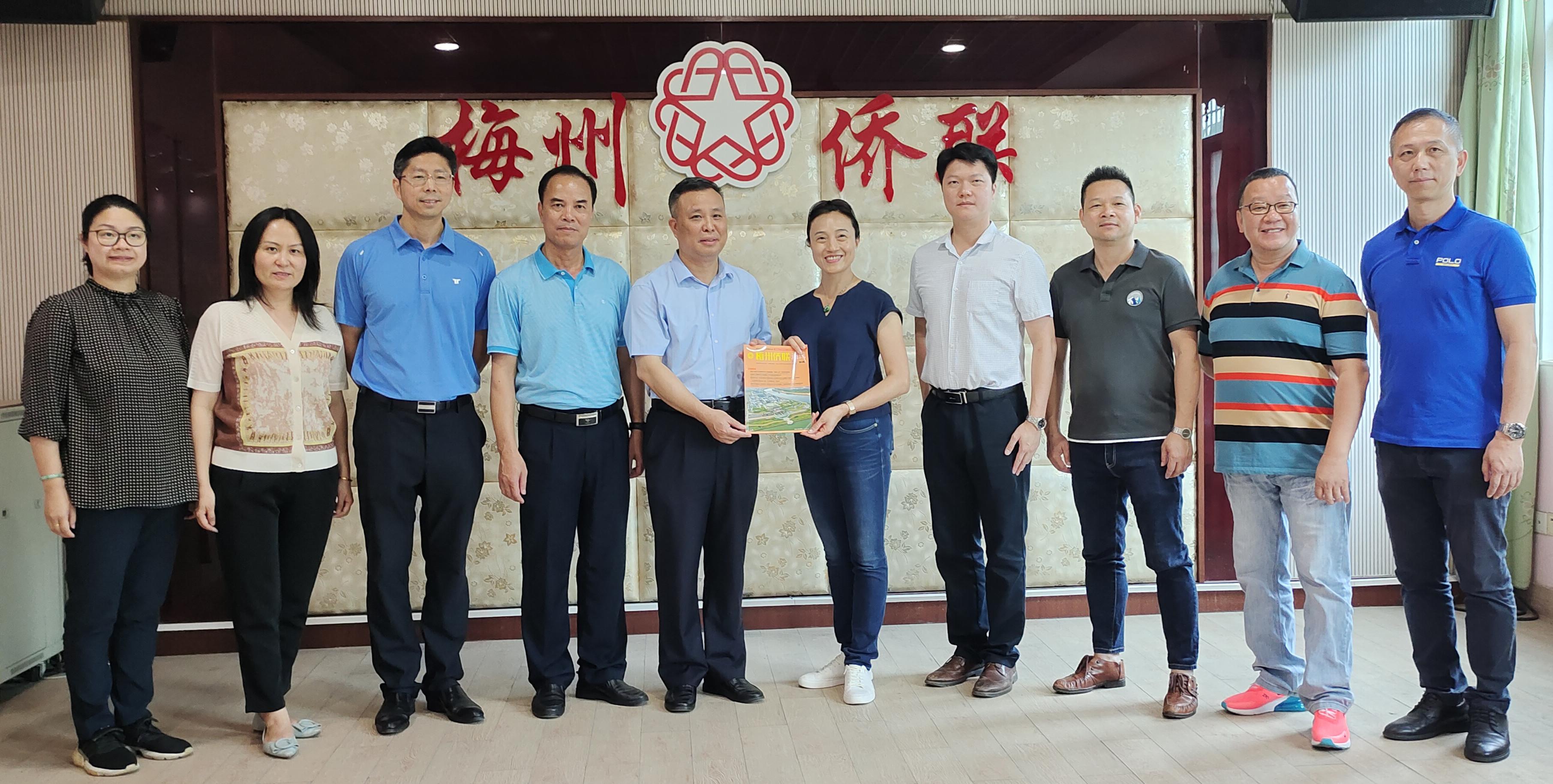 江门市侨联党组书记、主席林春晖一行到访梅州市侨联