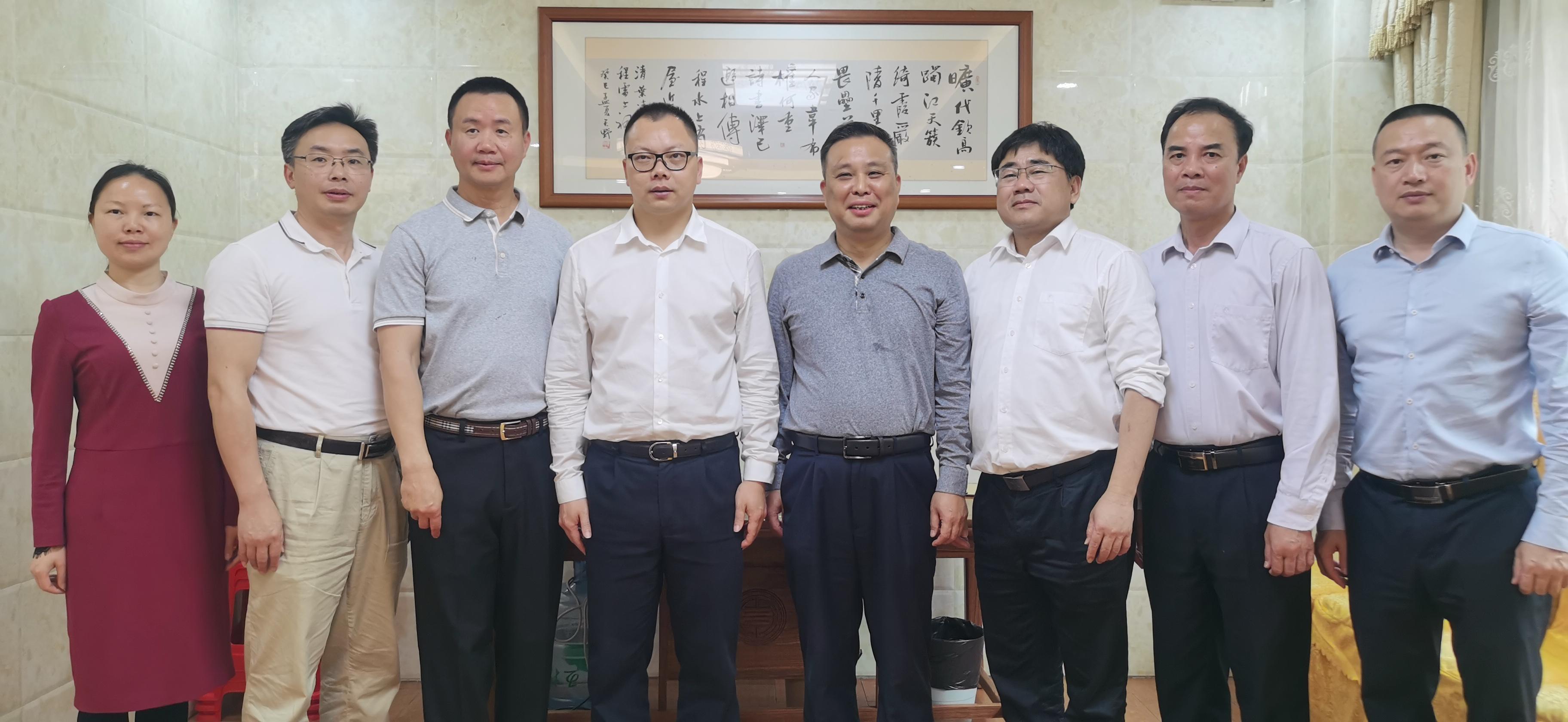 梅州市侨联拜访美国侨领王辉平先生